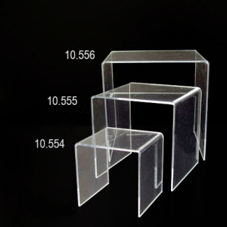 Repisa 15x15x15 metacrilato transparentre