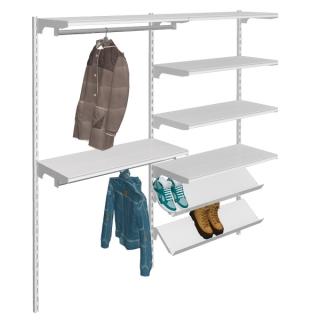 Estanterías con barra colgadora,estantes rectos y para calzado, 2 m