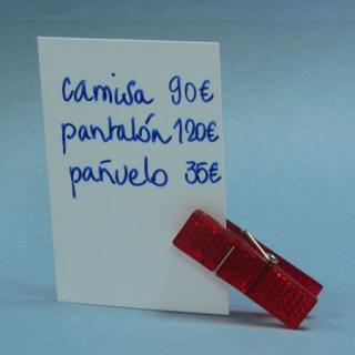 pinza porta precios mini  roja