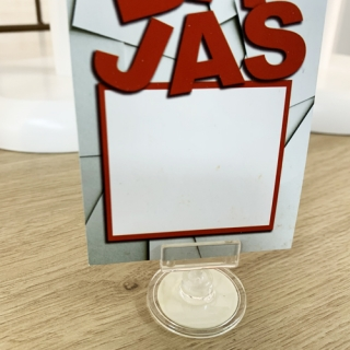 porta precios con adhesivo