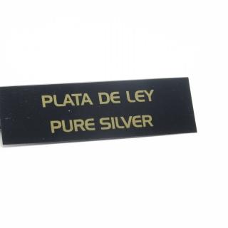 "Cartel joyería ""plata de ley"" negro-oro"