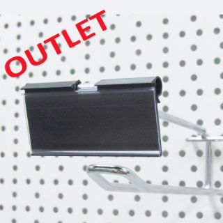 Porta etiquetas gancho 6,5x2,9 cm, negro
