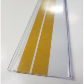 10 perfiles Porta Precios 2 Adhesivos De 100x 4 cm Transparente