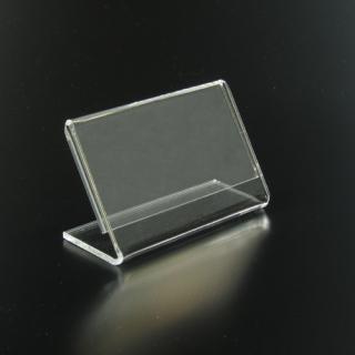 Porta etiquetas horizontal 7,5x5 cm metacrilato