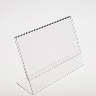 Porta cartel Din A 6 horizontal, metacrilato