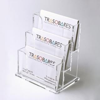 Tarjetero 3 niveles en altura, tarjetas de 8,5 cm