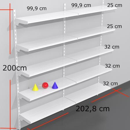 Estanterias para tiendas - Medidas estanterias metalicas ...